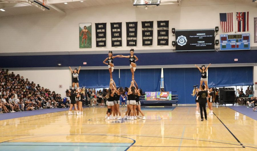 The Bleed Blue Crew kicks off the school year with a series of stunts and pepped up the crowd!