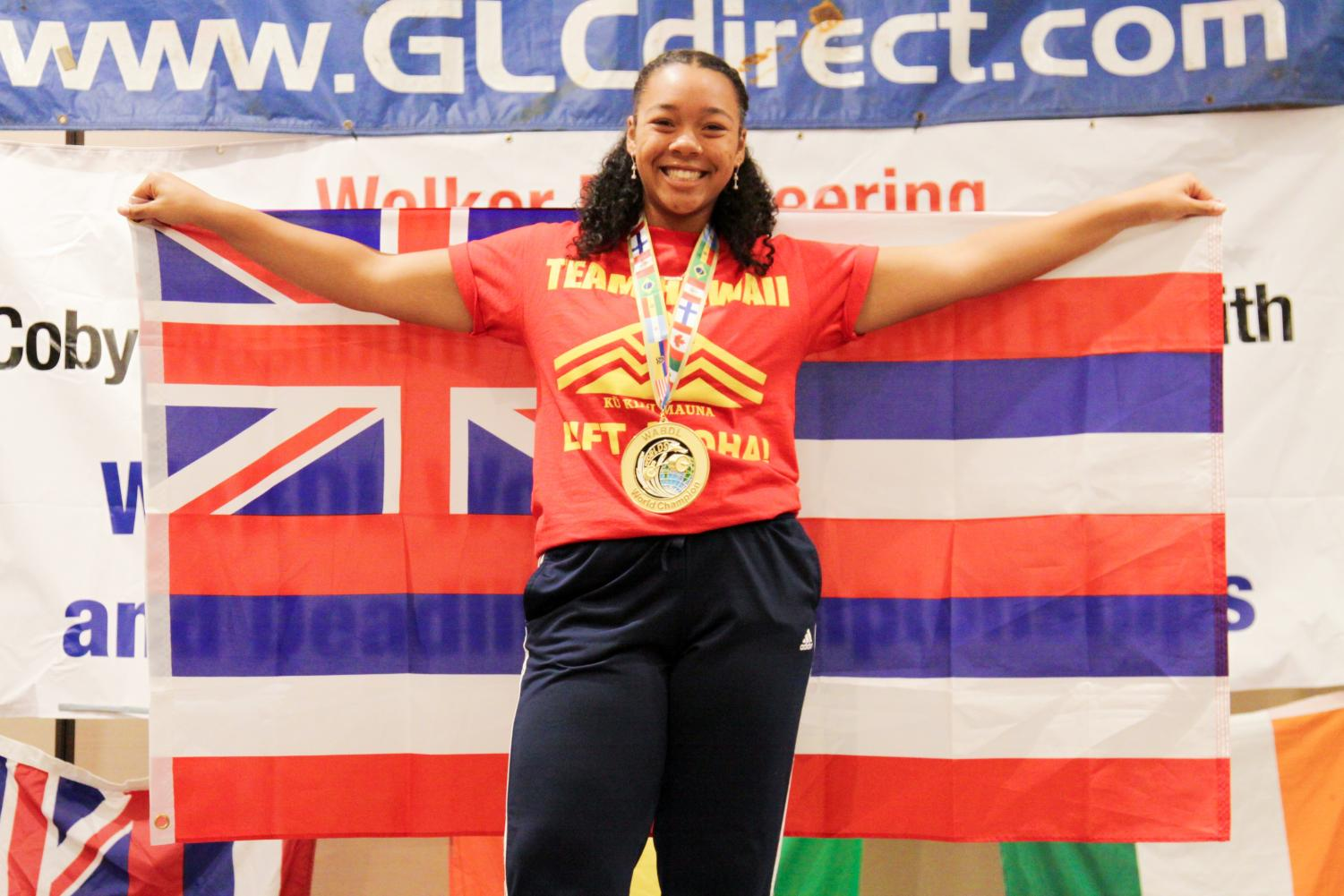 Jazzmin White (pictured), made a new world record for deadlifting 292 pounds.