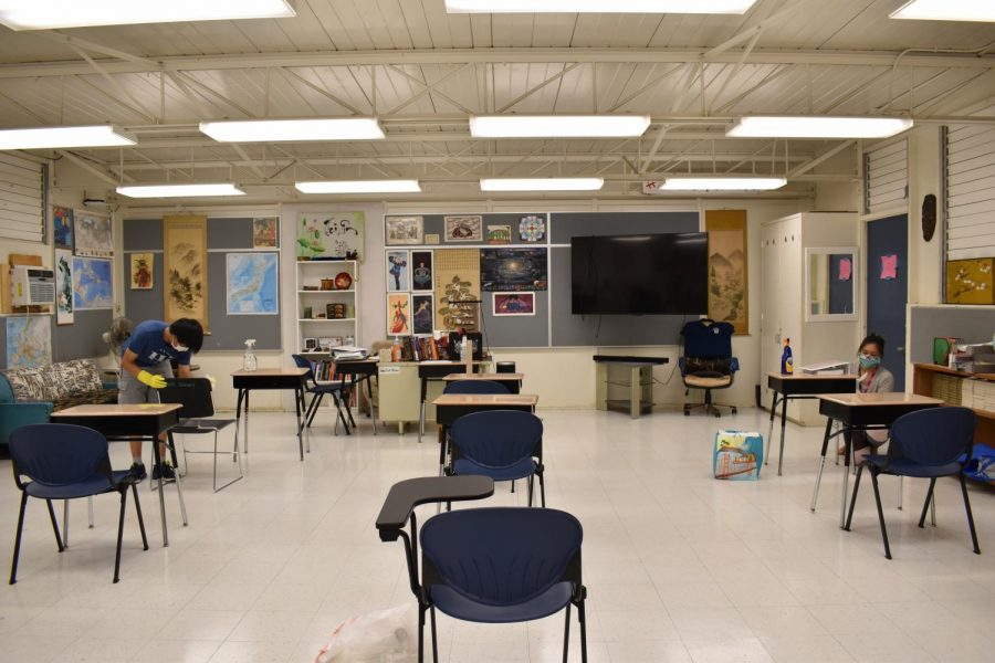 Students+cleaning+6ft+apart+in+a+classroom
