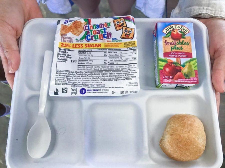 Portion sizes of Moanaluas breakfast.