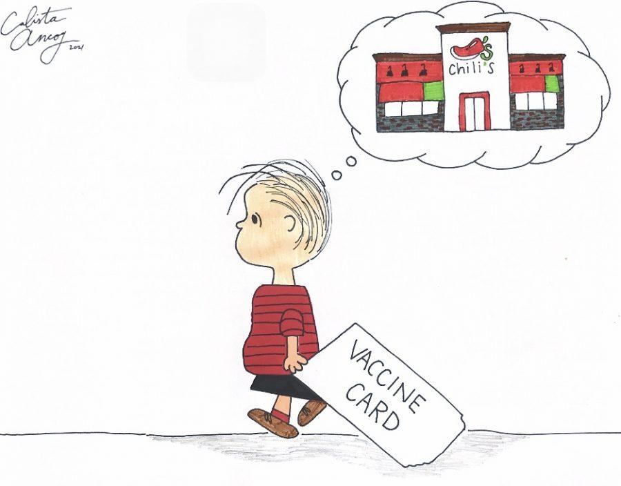 Vaccine passport editorial cartoon 1